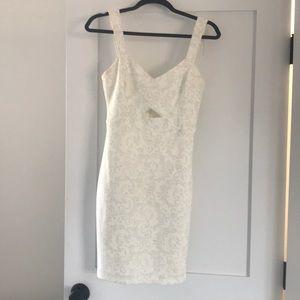 White bodycon party dress! Euc